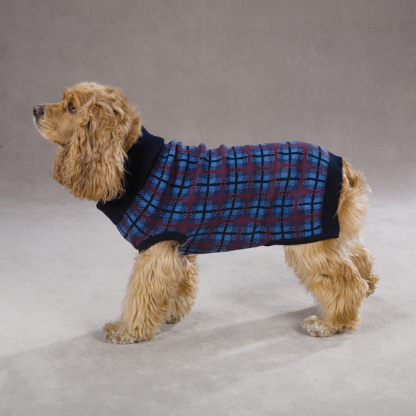 English Plaid Sweater by Zack & Zoey - Navy