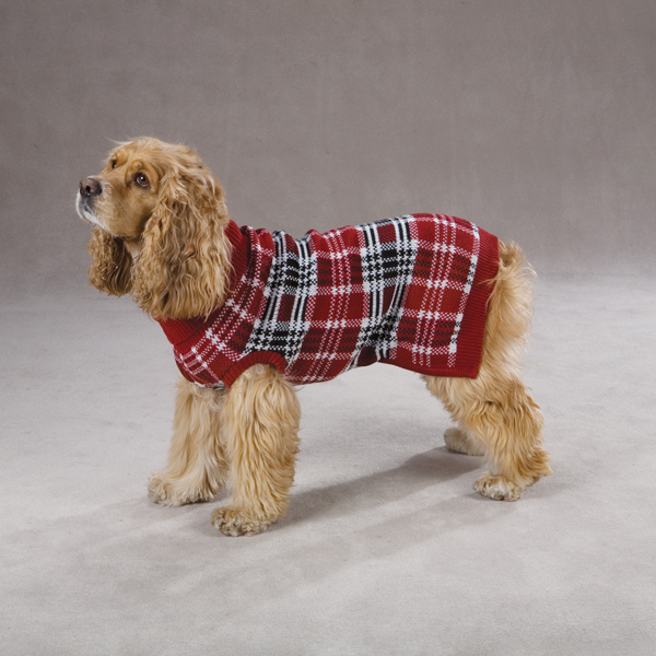 English Plaid Sweater by Zack & Zoey - Red