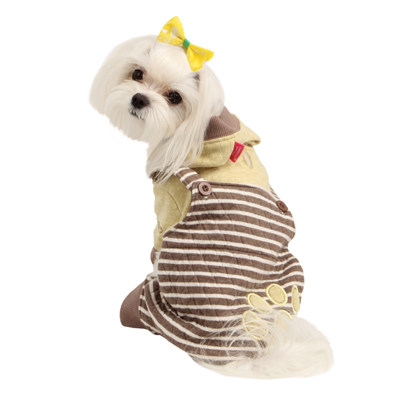 Euphoria Dog Hooded Jumpsuit by Pinkaholic - Brown