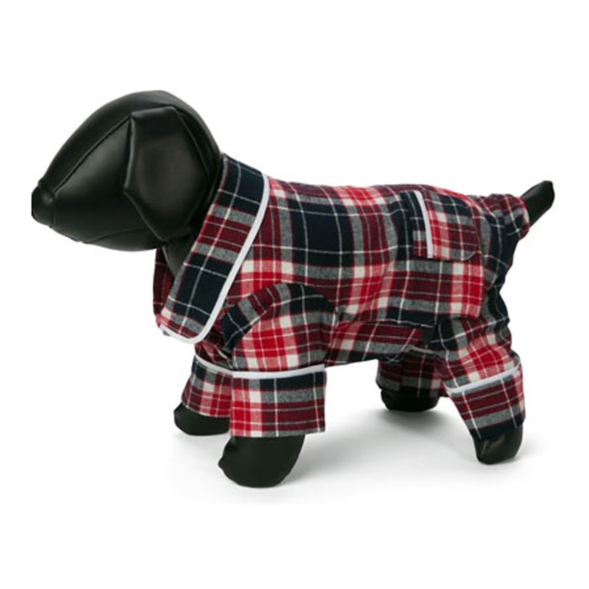 Fab Dog Plaid Flannel Dog Pajamas - Blue | BaxterBoo