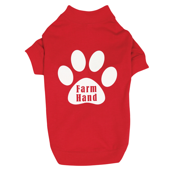 Farm Hand Dog T-Shirt by Zack & Zoey - Red