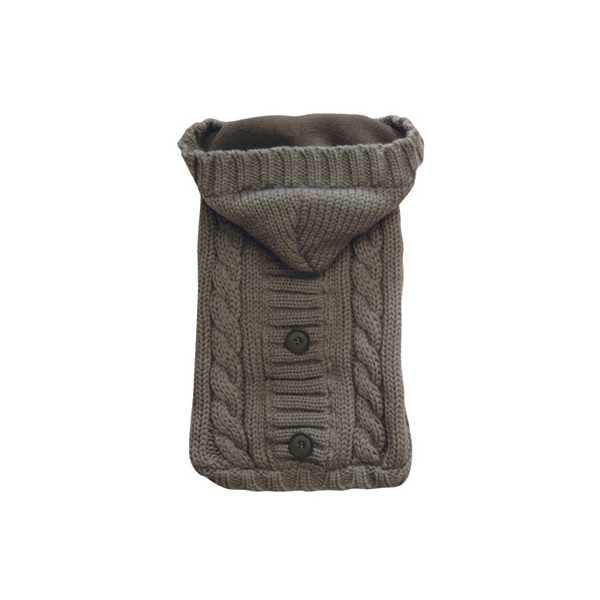 Fisherman Cable Knit Hooded Sweater by NY Dog - Gray