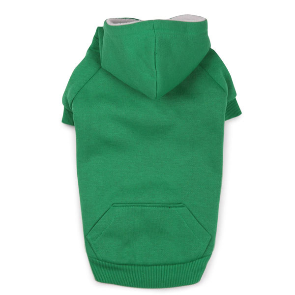 Fleece Lined Dog Hoodie by Zack & Zoey - Green