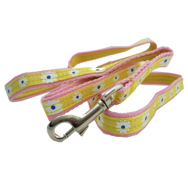 Flower Dress Leash for Harness by Doggles - Yellow / Pink