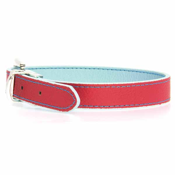 FouFou Reversible Dog Collar - Blue/Red