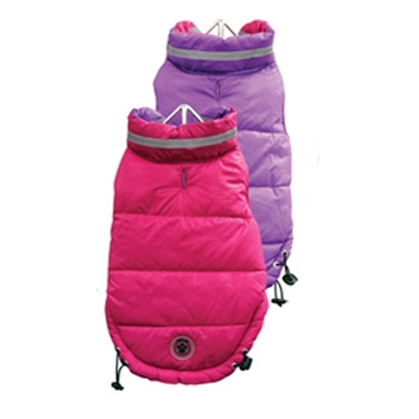 FouSki Reversible Dog Parka - Fuchsia/Purple