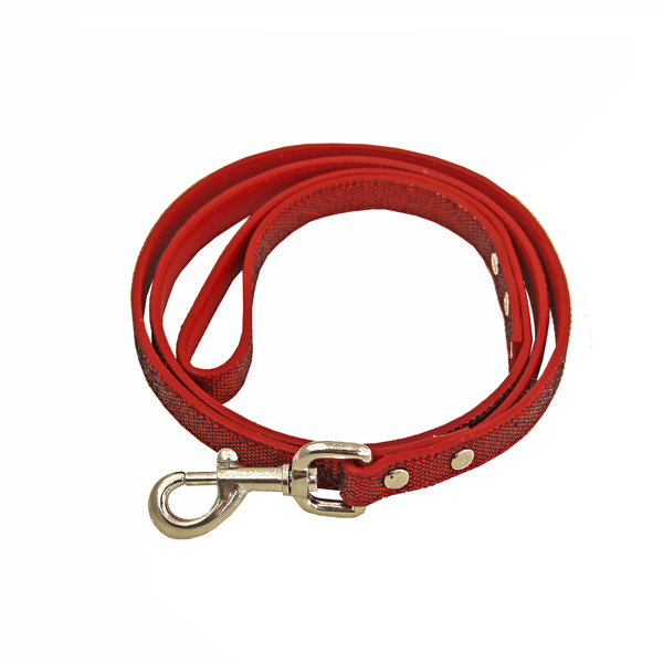 Foxy Glitz Dog Leash - Red