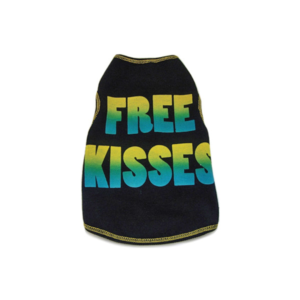 Free Kisses Dog Tank Top - Black