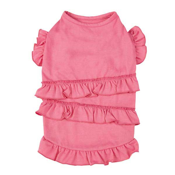 Fresh Water Ruffle Dog Tank - Pink