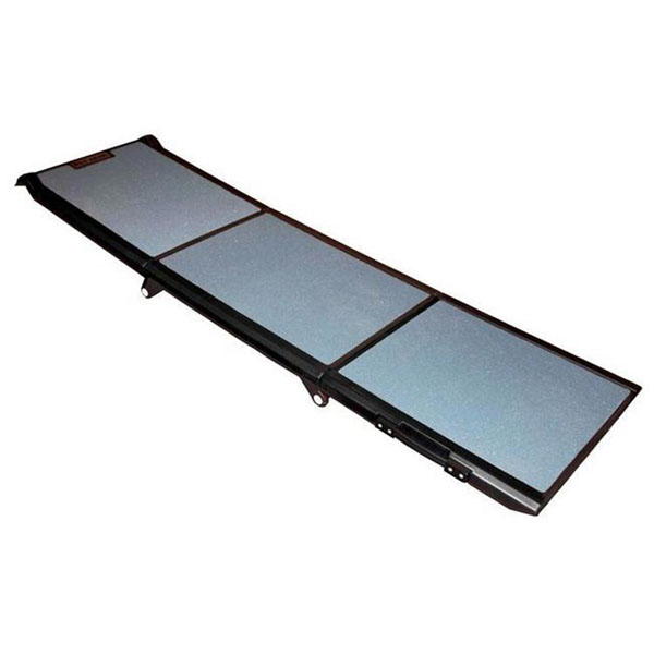 Full Length Tri-Fold Pet Ramp - Gray/Black