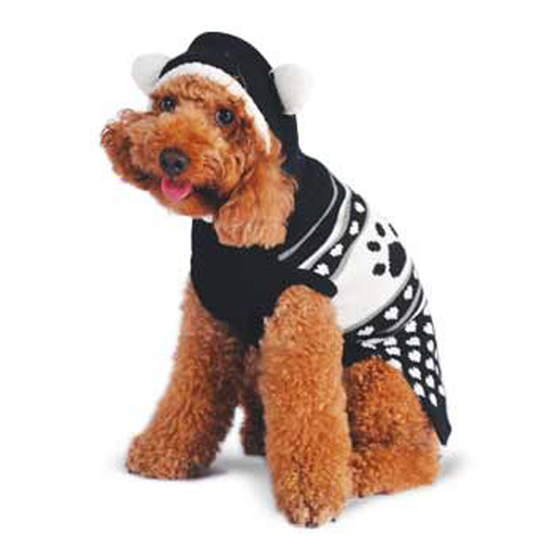 Fuzzy Animal Dog Sweater by Dogo - Black