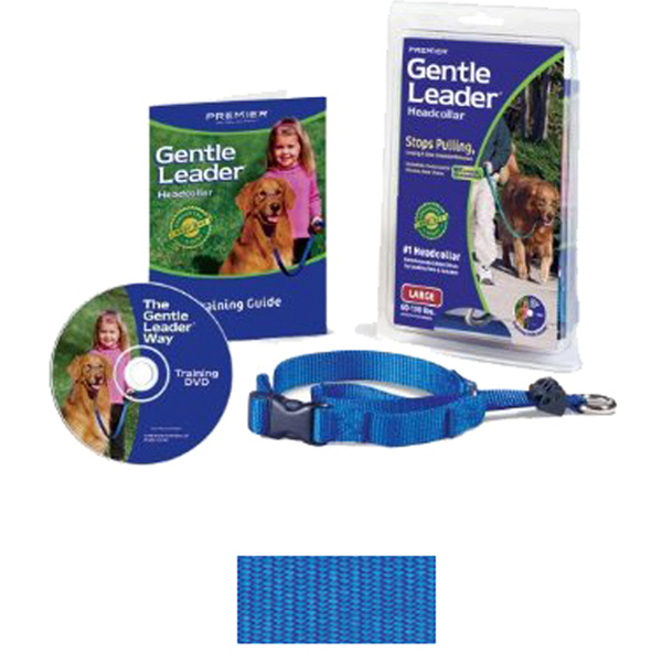 Gentle Leader Headcollar - Royal Blue with Quick-Snap Buckle