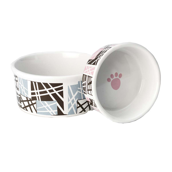 Geometric Dog Bowl