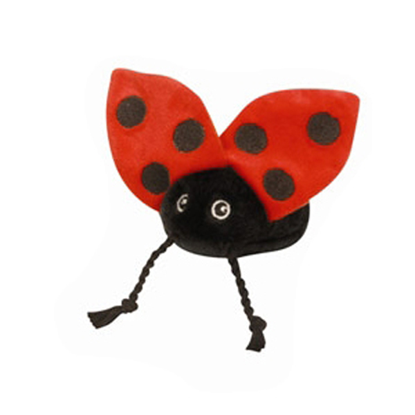GoDog Just for Me! Tiny Bug Toys with Chew Guard - Ladybug
