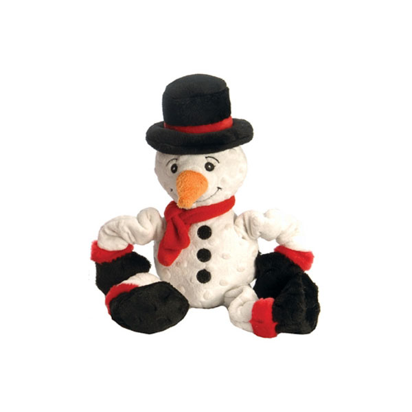 GoDog Stretch Snowman Dog Toy with Chew Guard