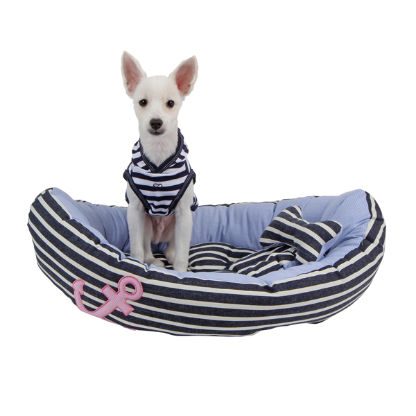 Gondola Dog Bed by Pinkaholic - Navy and Blue