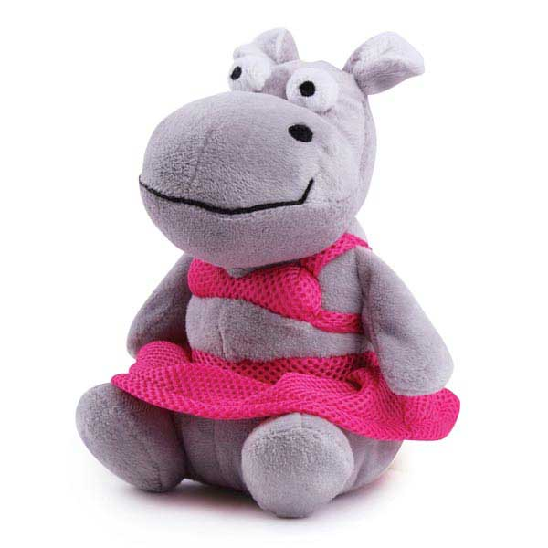 Grriggles Bathing Beauties Dog Toy - Hippo
