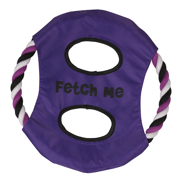 Grriggles Fetch Me Flyer Dog Toy - Ultra Violet