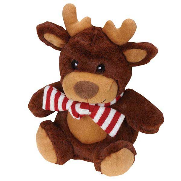 Grriggles Jolly Snugglers Dog Toy - Reindeer