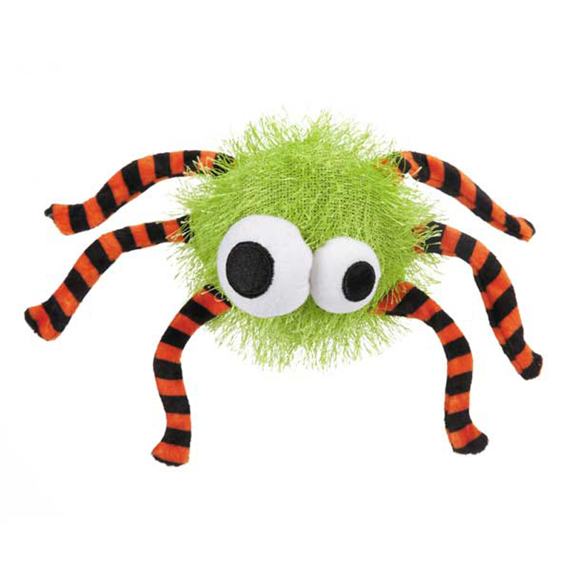 Grriggles Spooky Time Spider Dog Toy - Green