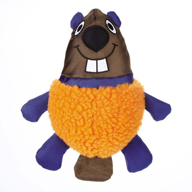 Grriggles Squawker Bellies Dog Toy - Beaver