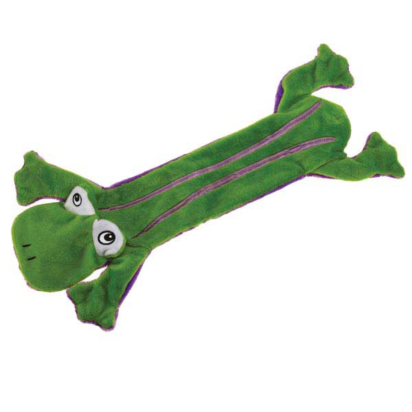 Grriggles Unstuffy Frog Dog Toy - Green