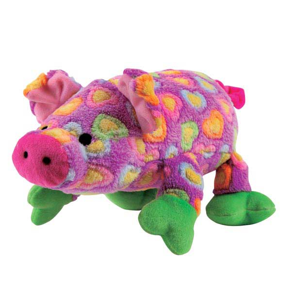 Grriggles Whole Hearted Hog Dog Toy - Purple