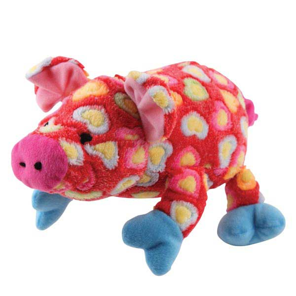 Grriggles Whole Hearted Hog Dog Toy - Red