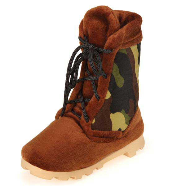 Grriggles Workin' Boots Dog Toy - Camo