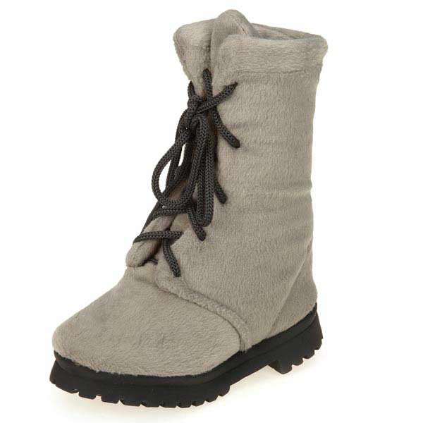 Grriggles Workin' Boots Dog Toy - Gray