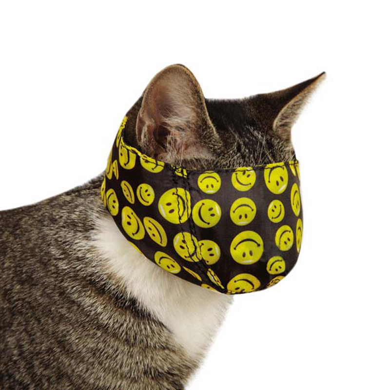 Guardian Gear Lined Printed Cat Muzzle - Smiles