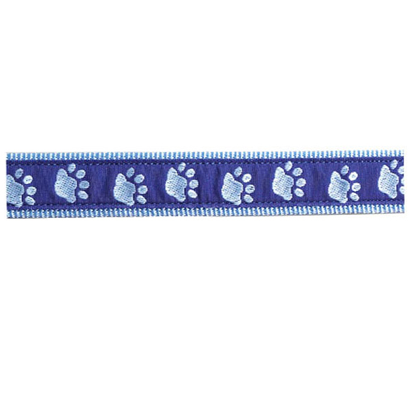 Guardian Gear Two Tone Pawprint Collar - Blue