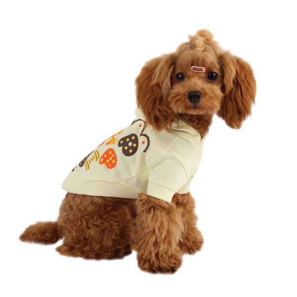 Hallmark Hooded Dog Shirt by Puppia - Light Yellow