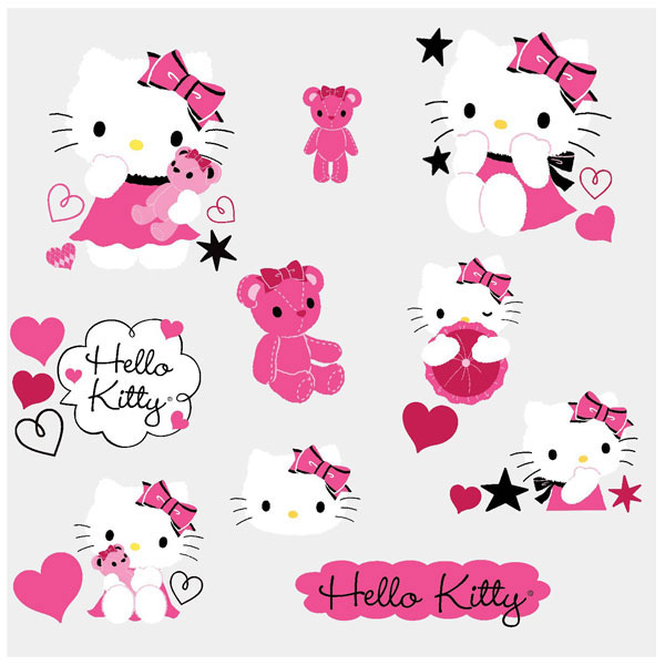 Hello Kitty Bedroom Decor   Couture Wall Decals At ToyStop