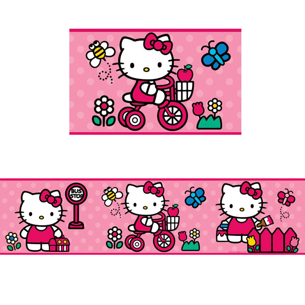 Hello Kitty Bedroom Decor   World Of Hello Kitty Wall Border At ToyStop