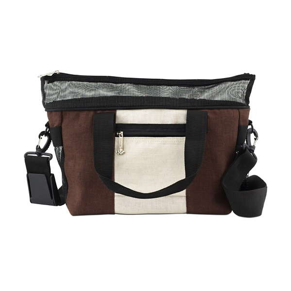 Hemp Messenger Dog Carrier by Doggles - Brown