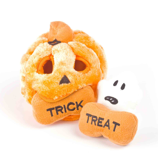 Hide-A-Pumpkin Halloween Dog Toy