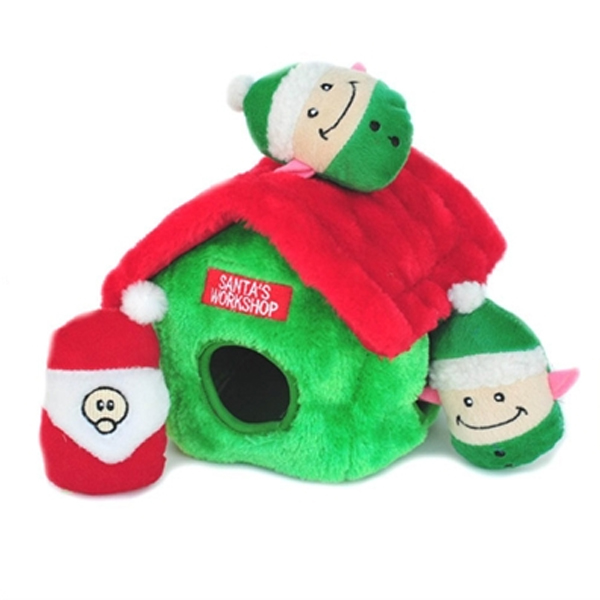 Holiday Burrow Dog Toy - Santa's Workshop