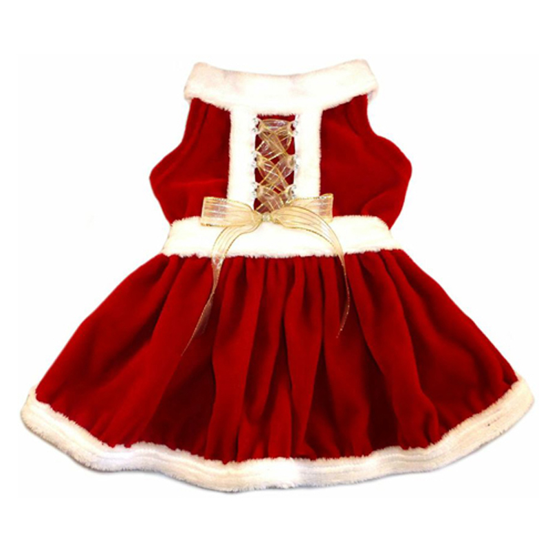Holiday Mrs. Claus Dog Dress  BaxterBoo