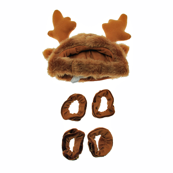 Holiday Reindeer Dog Costume with Leg Cuffs - Brown