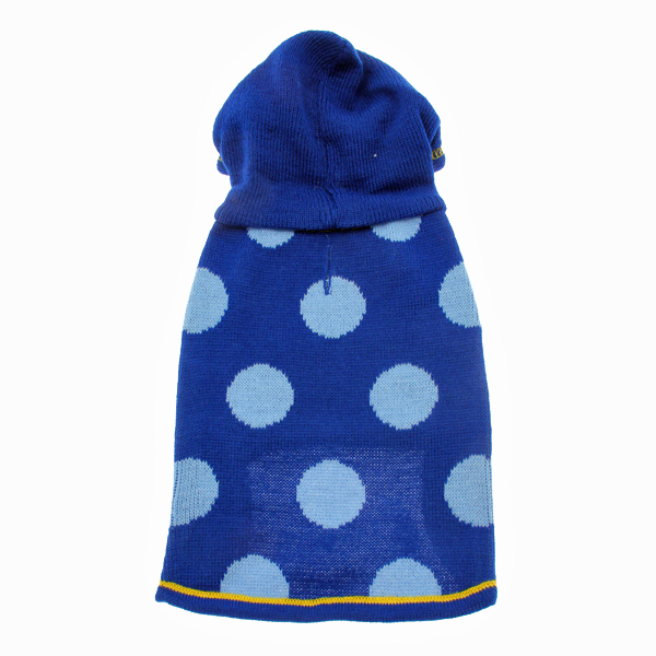 Hooded Polka Dot Dog Sweater - Blue