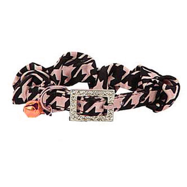 Houndstooth Cat Collar by Catspia - Pink