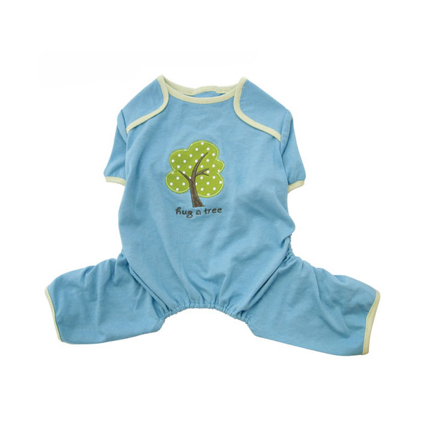 'Hug a Tree' Eco-Friendly Dog Pajamas by Klippo - Light Blue