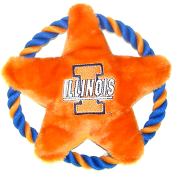 Illinois Fighting Illini Rope Disc Dog Toy