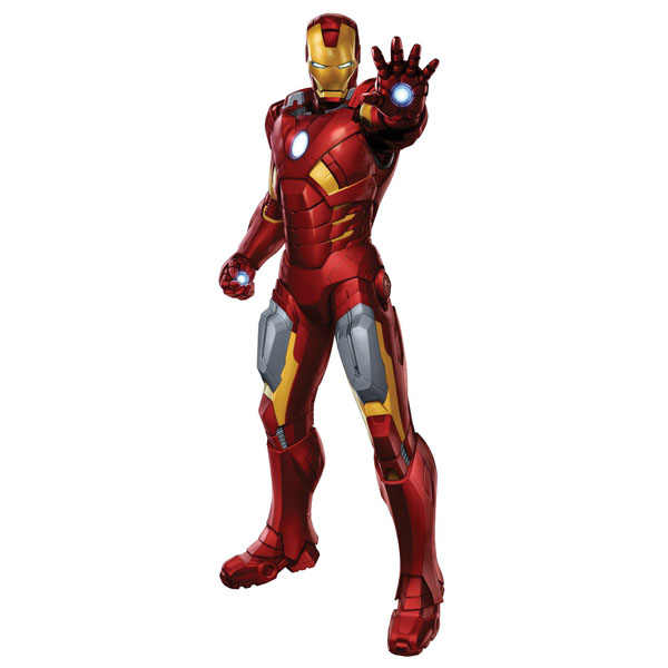 sc 1 st  ToyStop & Iron Man Bedroom Decor - Giant Avengers Wall Decal at ToyStop