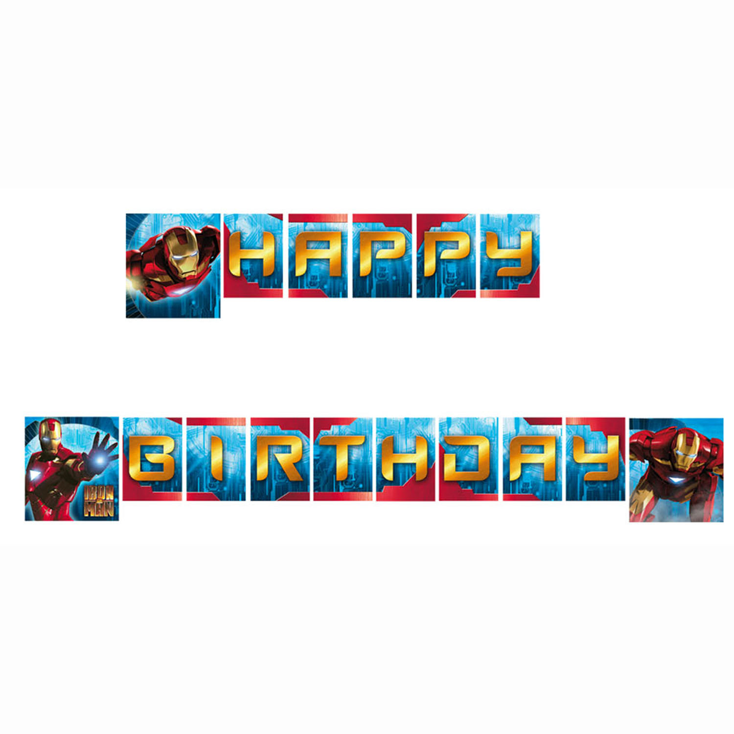 Iron Man Party Supplies Birthday Banner at ToyStop