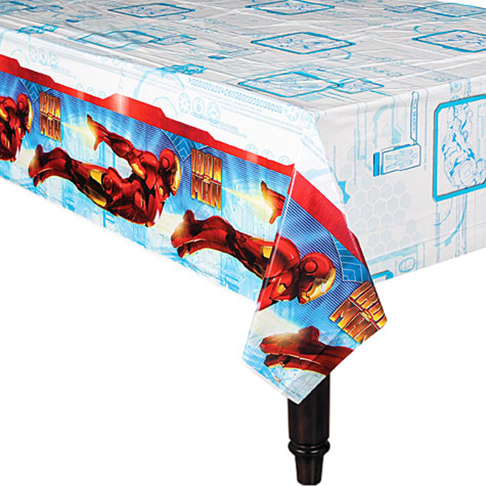 Iron Man Party Supplies Plastic Table Cover At Toystop