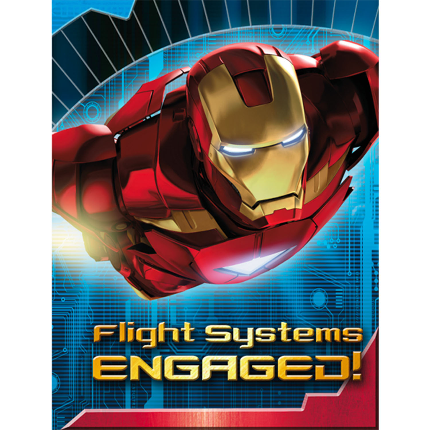 Iron Man Party Supplies Postcard Invitations at ToyStop