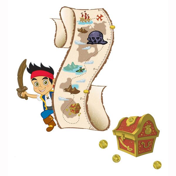 Jake and the Never Land Pirates Bedroom Decor - Growth Chart Wall ...
