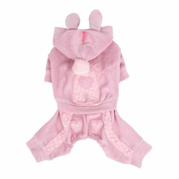 Juicy Dog Jumpsuit by Pinkaholic - Pink